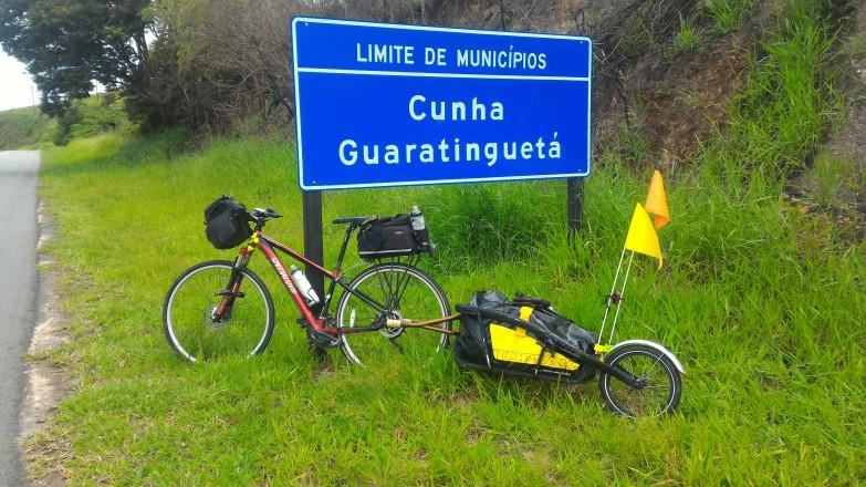 Limite de municípios Guaratinguetá e Cunha